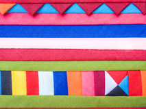 Colorful Patchwork Fabric background Royalty Free Stock Photography