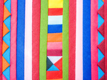 Colorful Patchwork Fabric background Royalty Free Stock Photos
