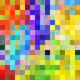 Colorful Patchwork Pixel Background Blocks. A colorful abstract digital pixel background design Stock Photo