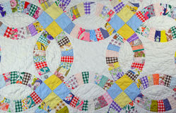 Colorful patchwork quilt Stock Image