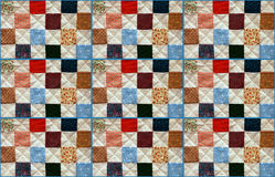 Colorful patchwork quilt Royalty Free Stock Images