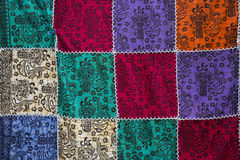 Colorful patchwork quilt Royalty Free Stock Photo