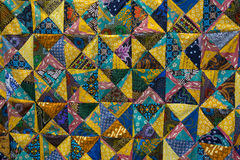 Colorful patchwork quilt Royalty Free Stock Photos