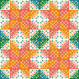 The colorful patchwork seamless background for design Stock Images