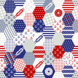 Colorful Patchwork Seamless Patterns . Stock Photography