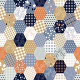 Colorful Patchwork Seamless Patterns . Royalty Free Stock Photo