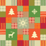Colorful patchwork style christmas background Stock Photography