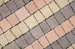 Colorful patio pavement installation Stock Photography