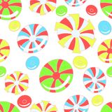 Colorful pattern with abstract candies Royalty Free Stock Images