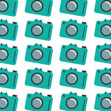 Colorful pattern with analog camera Royalty Free Stock Photos