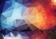 Colorful pattern of angular geometric shapes Stock Images