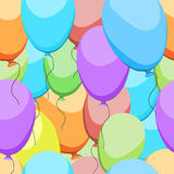 Colorful pattern of balloons Royalty Free Stock Photography
