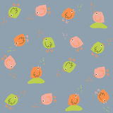 Colorful pattern with birds. Seamless. Hand drawn. Stock Images