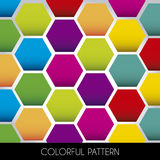 Colorful pattern. On black base vector illustration Stock Image