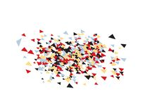 Triangles Confetti Backdrop royalty free illustration