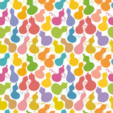 Colorful pattern of brush stroke gourds. Royalty Free Stock Image