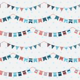Colorful pattern with bunting and garland Royalty Free Stock Photos