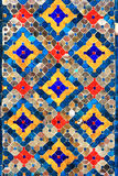 Colorful pattern ceramic on the wall temple Royalty Free Stock Image