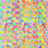 Colorful pattern with chaotic triangles Stock Photo