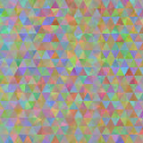 Colorful pattern with chaotic triangles Stock Images