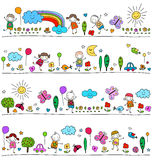Colorful pattern for children Royalty Free Stock Photography