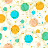 Colorful pattern with circles. Abstract pattern with cirles and lines in bright colors. Seamless vector background Stock Images