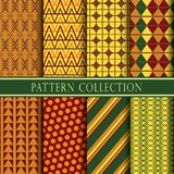 Colorful pattern collection. stock image