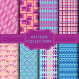 Modern pink and blue pattern. royalty free stock image