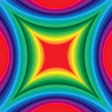 Colorful  Pattern of Concave Rectangle. Visual Volume Effect.   Royalty Free Stock Photos