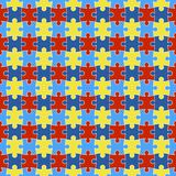 Autism Awareness Seamless Pattern royalty free stock image