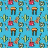 Colorful pattern with elements of festa junina celebration. Vector illustration Royalty Free Stock Photography