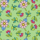 Colorful pattern with flower Stock Photos