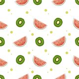 Colorful pattern fruit backround seamless stock illustration
