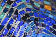 Colorful pattern of geometric mosaic from smalt. royalty free stock images