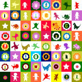 Colorful pattern for kids stock illustration