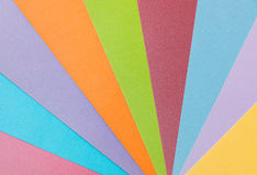 Colorful  pattern made from textured paper sheets. Royalty Free Stock Photos