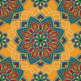 Colorful pattern with mandalas. Stock Image