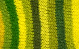 Colorful pattern ow a hand made wool socks. Natural clothing. Bright colors, close up pattern Royalty Free Stock Images