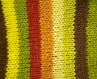 Colorful pattern ow a hand made wool socks. Natural clothing. Bright colors, close up pattern Royalty Free Stock Photography