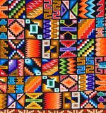 Colorful pattern of a Peruvian rug or tapestry Stock Photo