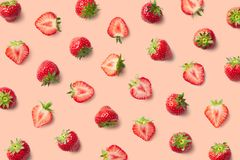 Colorful pattern of strawberries royalty free stock photos