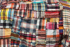 The colorful pattern of Thai cloth. The pattern of loincloth in Thailand Stock Photo