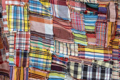 The colorful pattern of Thai cloth. The pattern of loincloth in Thailand Stock Image
