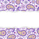 Colorful pattern with torn paper Royalty Free Stock Image