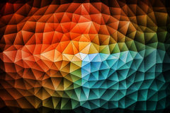 Colorful pattern of triangles. That seems to move and grow vector illustration