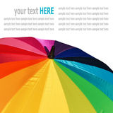 Colorful pattern of an umbrella isolated on white Stock Images