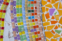 Colorful pattern of the wall Stock Image