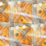 Colorful pattern water gray, yellow texture paint abstract seaml Stock Photography