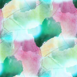 colorful pattern water green, purple texture paint color abstract seamless watercolor background stock illustration