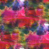 Colorful pattern water texture paint abstract red, blue, orange Stock Photography